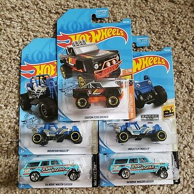 2019 Hot Wheels K Case Regular TH Zamac Wagon Gasser Lot Of 5