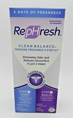 2PK Rephresh Vaginal Clean Balance 3 Day Kit 2CT 022600001133YN