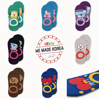 BTS BT21 Character Boat Socks 230~250mm 7 types Official K-Pop Authentic Goods