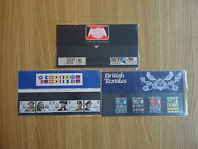 STAMPS GB PP X 3 PACKS No 136 / 137 / 138   1982   MINT MNH PRESENTATION PACK