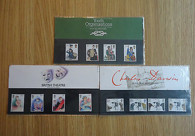 STAMPS GB PP X 3 PACKS No 132 / 133 / 134    1982   MINT MNH PRESENTATION PACK