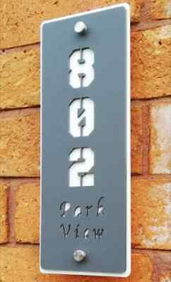 Vertical Modern Contemporary House Sign personalised door plaques/ door numbers