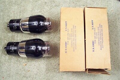 Two, NEW in box, Tung Sol-USA JAN-CTL-6L6G, military, matching pr, wartime, 6L6