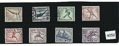 Stamp complete 1936 /  8 stamp set / Summer Olympics  Nazi Germany  Third Reich