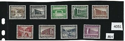 Stamp MH complete 1936 /  9 stamp set / Winter relief  Nazi Germany  Third Reich