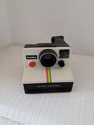 Vintage Polaroid SX-70 One Step Rainbow Stripe Instant Land Camera
