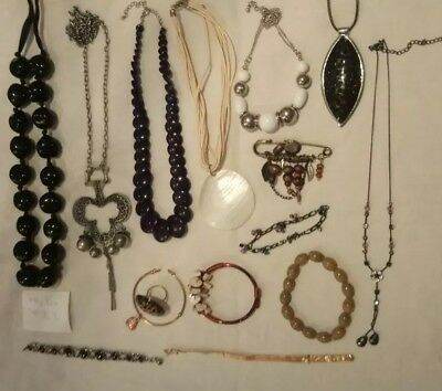Joblot jewellery carboot modern vintage fashion necklaces bangles glass