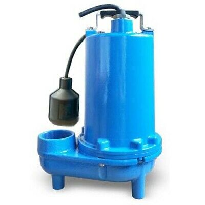 "Submersible SEWAGE TRASH Pump - 2"" Out - 140 GPM - 115 V - Self Priming - Float"