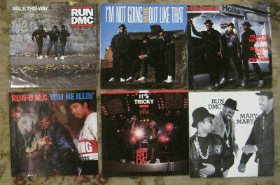 LOT of 6 RUN DMC 45rpm Picture Sleeves (only)
