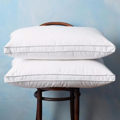 Luxury 100% Pure Hungarian Goose Down Pillow Satin Stripe 330 Thread Count Cover