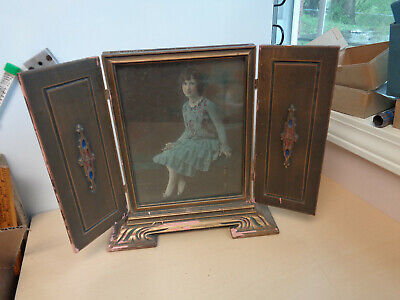 Wonderful Antique Art Nouveau Free Standing Picture Frame with Doors
