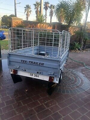 Trailer Foldaway 6x4 With Cage.  Unique And Rare