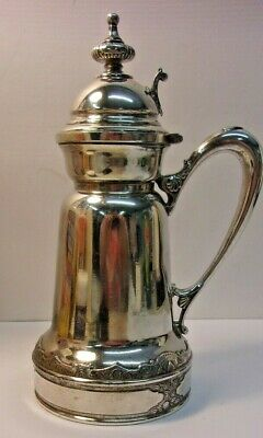Antique Patent 1865 WILCOX SILVERPLATE CO Quadruple Plate Silver Syrup Pitcher