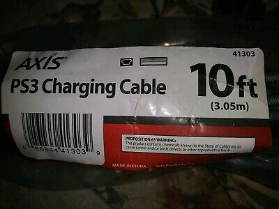 10 foot USB Charging Cable Sony Playstation 3 PS3 Wireless Dual Shock Controller