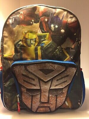 TRANSFORMERS REVERSIBLE DECEPTICONS AUTOBOTS SCHOOL BACKPACK PADDED BOOK BAG NEW