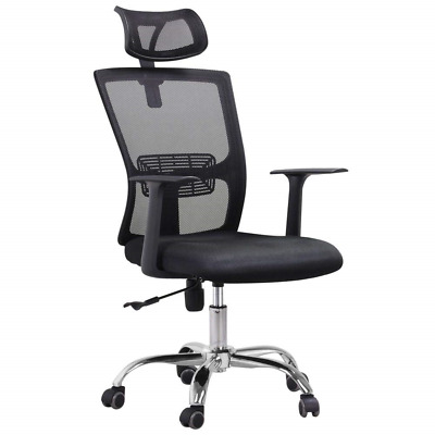 Yaheetech Mesh High Back Swivel Office Chair Padded with Adjustable Tilt and