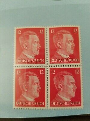 Germany Stamps (4) Adolph Hitler 1941 PF12  Stamp Block Nazi Third Reich WWII