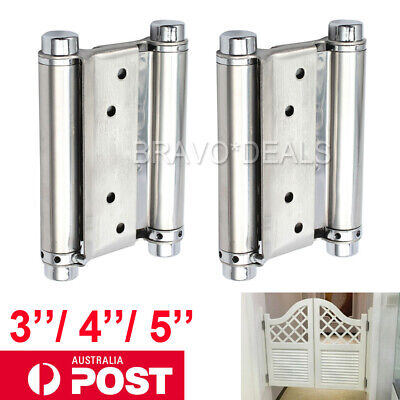 2X Double Action Spring Hinge Saloon Cafe Door Swing Western Door - 3''/4''/5''
