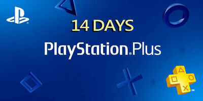 Ps Plus 14 Day -Ps4-Ps3-Ps Vita - Playstation (No Code)