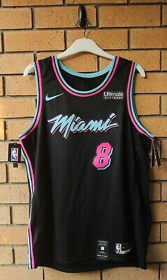 new style 3af9b d6c87 BNWT MIAMI HEAT Vice Dwyane Wade Nike Men's City Edition Nba ...