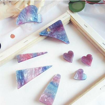 Girl Cute Acetate Symphony Gradient Starry Colorful Geometric Hair Clips Hairpin