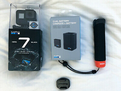GoPro HERO7 Black Action Camera w/ Battery Charger & Floating Handle