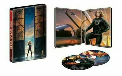 Captain Marvel (2019, 4K + 2D Blu-ray Disc Set, Best Buy Exclusive Steelbook)