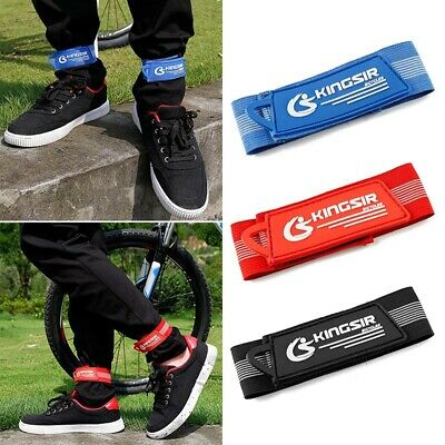 2pcs Elastic Rubber Motorcycle Bike Bicycle Leg Boot Cycling Straps Pant Clips