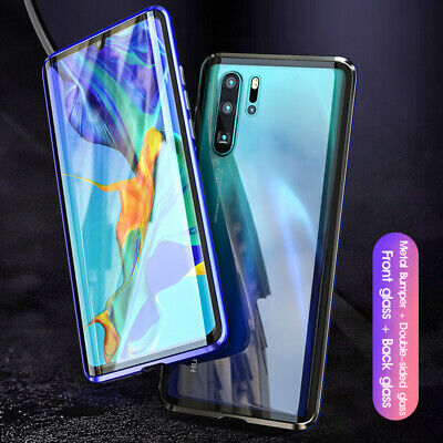 360° Magnetic Adsorption Double-Side Glass Case Cover for Huawei P30 Pro P20lite