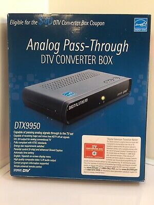 Digital Stream Analog Pass-through DTV Converter Box DTX9950 With Remote Control