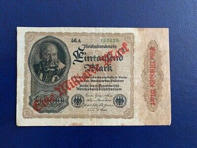 Germany - 1 Billion Mark 1922 -  Very Fine