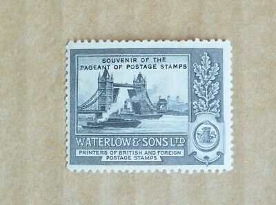 1932 Waterlow & Sons Pageant Of Postage Stamp Printers Cinderella Stamp M/UH 2