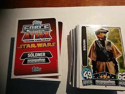 Lotto 150 Card Star Wars Force Attax Tutte Diverse