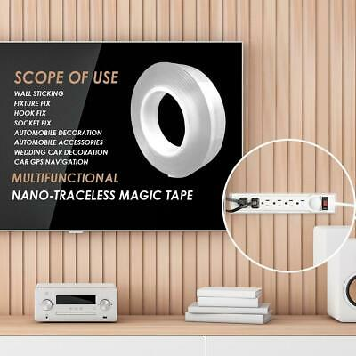 Multifunction Double-sided Adhesive Nano Tape Washable Portable Gel Grip Sticker