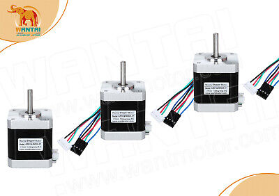 EU FREE wantai NEMA17 Stepper Motors - 1.8deg -5mm Shaft - Reprap & 3d printer