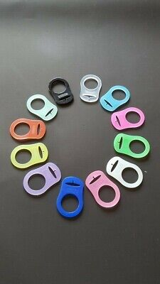 MAM Baby Style Dummy Adaptors Ring Clip Pacifier Soother