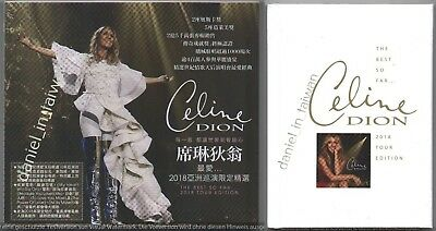 Celine Dion The Best so far Tour Edition 2018 TAIWAN SLIPCOVER CD w/ NOTEBOOK