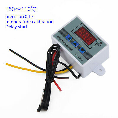 220V/12V/24V Temperature Controller Digital LED Thermostat Switch With Probe