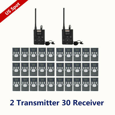 EXMAX FM Wireless Audio Horse Riding Teaching System 2 Transmitter 30 Receiver