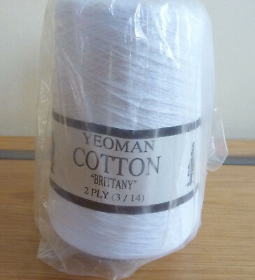 "Yeoman Cotton ""Brittany""  2 ply Machine or Hand knitting 2 Colours"