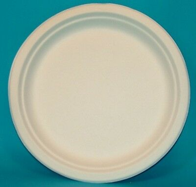 Biodegradable Sugarcane White Rigid Plates Bowls Starter Dinner Dessert Parties