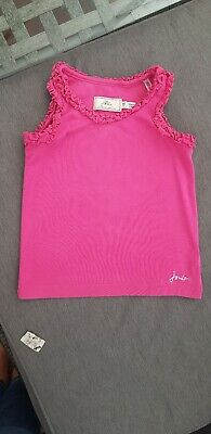 🌺🌈🔥🌼 Joules Little Joule Pink Frilly Vest Top Girls 5yrs IMMACULATE 🌺🌸