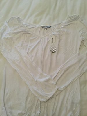 Ladies Marie Claire white Night Sleepwear Top Size S New with Tag Intact