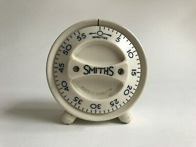Vintage Smiths Kitchen Timer Bakelite Art Deco Wind Up Clock 1940s 1960s