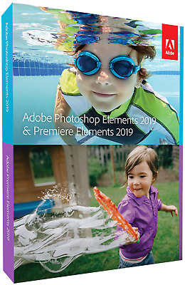 Adobe Photoshop Elements 2019 & Premiere Vollversion, 1 Lizenz Windows, Mac Bild