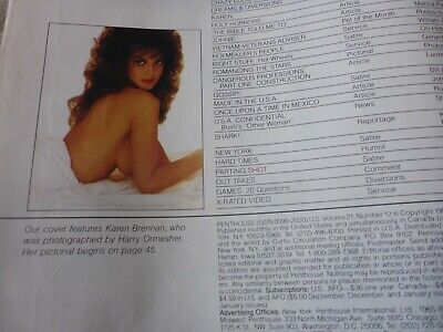 KAREN BRENNAN 1990 Britains Glamour Page 3 Girl Penthouse Coverless ohne Cover