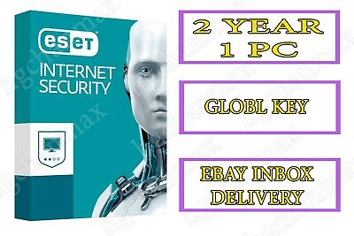 ESET INTERNET SECURITY 2019 | 1 PC | 2 YEAR | Windows | INSTANTLY DELIVERY
