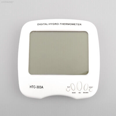 Large LCD Digital Temperature Humidity Meter HTC-303A Thermometer Clock Alarm