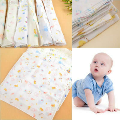 7EF7 1Pcs Baby Girls Gauze Muslin Square Cotton Bath Wash Cloths Towel 31*31