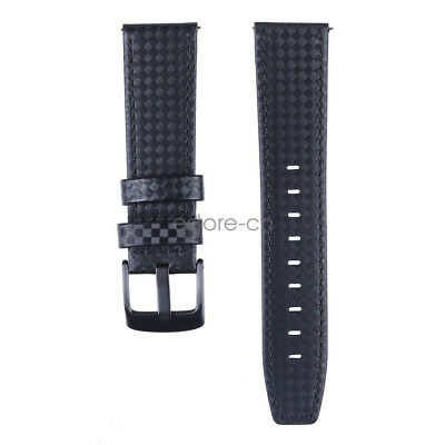 22mm Carbon Fiber Leather Watch Band Strap for Samsung Galaxy Watch / Gear S3